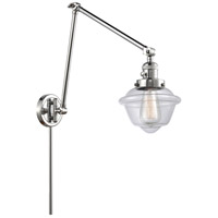 Innovations Lighting 238-PC-G532 Small Oxford 30 inch 60.00 watt Polished Chrome Swing Arm Wall Light, Franklin Restoration