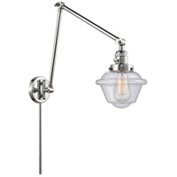 Innovations Lighting 238-PC-G534 Small Oxford 30 inch 60.00 watt Polished Chrome Swing Arm Wall Light, Franklin Restoration