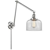 Innovations Lighting 238-PC-G72 Large Bell 30 inch 60.00 watt Polished Chrome Swing Arm Wall Light Franklin Restoration