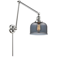 Innovations Lighting 238-PC-G73 Large Bell 30 inch 60.00 watt Polished Chrome Swing Arm Wall Light, Franklin Restoration