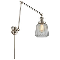 Innovations Lighting 238-PN-G142 Chatham 30 inch 60.00 watt Polished Nickel Swing Arm Wall Light, Franklin Restoration
