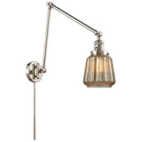 Innovations Lighting 238-PN-G146 Chatham 30 inch 60.00 watt Polished Nickel Swing Arm Wall Light, Franklin Restoration