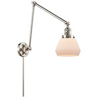 Innovations Lighting 238-PN-G171 Fulton 30 inch 60.00 watt Polished Nickel Swing Arm Wall Light, Franklin Restoration