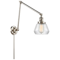 Innovations Lighting 238-PN-G172 Fulton 30 inch 60.00 watt Polished Nickel Swing Arm Wall Light, Franklin Restoration