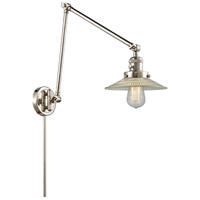 Innovations Lighting 238-PN-G2 Halophane 30 inch 60.00 watt Polished Nickel Swing Arm Wall Light, Franklin Restoration
