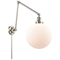 Innovations Lighting 238-PN-G201-12 XX-Large Beacon 34 inch 60.00 watt Polished Nickel Swing Arm Wall Light