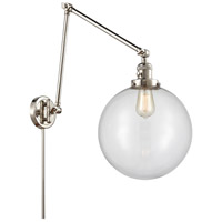 Innovations Lighting 238-PN-G202-12 XX-Large Beacon 34 inch 60.00 watt Polished Nickel Swing Arm Wall Light