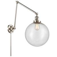 Innovations Lighting 238-PN-G204-12 XX-Large Beacon 34 inch 60.00 watt Polished Nickel Swing Arm Wall Light