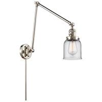 Innovations Lighting 238-PN-G52 Small Bell 30 inch 60.00 watt Polished Nickel Swing Arm Wall Light Franklin Restoration