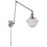 Innovations Lighting 238-PN-G534 Small Oxford 30 inch 60.00 watt Polished Nickel Swing Arm Wall Light, Franklin Restoration