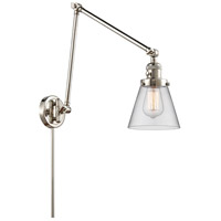 Innovations Lighting 238-PN-G62 Small Cone 30 inch 60.00 watt Polished Nickel Swing Arm Wall Light, Franklin Restoration