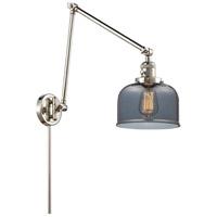 Innovations Lighting 238-PN-G73 Large Bell 30 inch 60.00 watt Polished Nickel Swing Arm Wall Light, Franklin Restoration