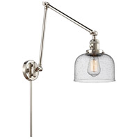 Innovations Lighting 238-PN-G74 Large Bell 30 inch 60.00 watt Polished Nickel Swing Arm Wall Light, Franklin Restoration
