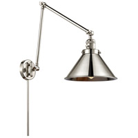 Innovations Lighting 238-PN-M10-PN Briarcliff 30 inch 60.00 watt Polished Nickel Swing Arm Wall Light, Franklin Restoration
