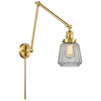 Innovations Lighting 238-SG-G142 Chatham 30 inch 60.00 watt Satin Gold Swing Arm Wall Light, Franklin Restoration