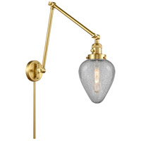 Innovations Lighting 238-SG-G165 Geneseo 30 inch 60.00 watt Satin Gold Swing Arm Wall Light, Franklin Restoration