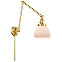 Innovations Lighting 238-SG-G171 Fulton 30 inch 60.00 watt Satin Gold Swing Arm Wall Light, Franklin Restoration