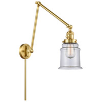 Innovations Lighting 238-SG-G182 Canton 30 inch 60.00 watt Satin Gold Swing Arm Wall Light, Franklin Restoration