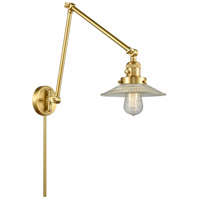 Innovations Lighting 238-SG-G2 Halophane 30 inch 60.00 watt Satin Gold Swing Arm Wall Light, Franklin Restoration