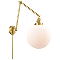 Innovations Lighting 238-SG-G201-10 Extra Large Beacon 32 inch 60.00 watt Satin Gold Swing Arm Wall Light