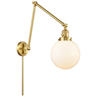 Innovations Lighting 238-SG-G201-8 Large Beacon 30 inch 60.00 watt Satin Gold Swing Arm Wall Light, Franklin Restoration