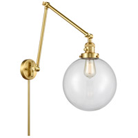 Innovations Lighting 238-SG-G202-10 Extra Large Beacon 32 inch 60.00 watt Satin Gold Swing Arm Wall Light