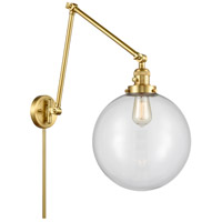 Innovations Lighting 238-SG-G202-12 XX-Large Beacon 34 inch 60.00 watt Satin Gold Swing Arm Wall Light