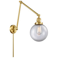 Innovations Lighting 238-SG-G202-8 Large Beacon 30 inch 60.00 watt Satin Gold Swing Arm Wall Light, Franklin Restoration photo thumbnail