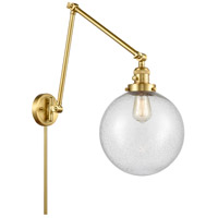 Innovations Lighting 238-SG-G204-10 Extra Large Beacon 32 inch 60.00 watt Satin Gold Swing Arm Wall Light