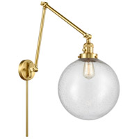 Innovations Lighting 238-SG-G204-12 XX-Large Beacon 34 inch 60.00 watt Satin Gold Swing Arm Wall Light