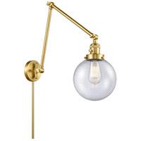 Innovations Lighting 238-SG-G204-8 Large Beacon 30 inch 60.00 watt Satin Gold Swing Arm Wall Light Franklin Restoration