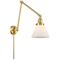 Innovations Lighting 238-SG-G41 Large Cone 30 inch 60.00 watt Satin Gold Swing Arm Wall Light, Franklin Restoration