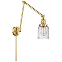 Innovations Lighting 238-SG-G54 Small Bell 30 inch 60.00 watt Satin Gold Swing Arm Wall Light, Franklin Restoration