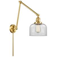 Innovations Lighting 238-SG-G72 Large Bell 30 inch 60.00 watt Satin Gold Swing Arm Wall Light Franklin Restoration