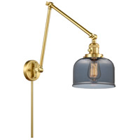 Innovations Lighting 238-SG-G73 Large Bell 30 inch 60.00 watt Satin Gold Swing Arm Wall Light, Franklin Restoration