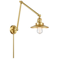 Innovations Lighting 238-SG-M4 Railroad 30 inch 60.00 watt Satin Gold Swing Arm Wall Light, Franklin Restoration