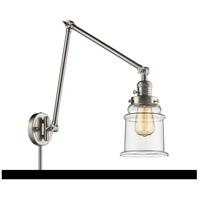 Innovations Lighting 238-SN-G182-LED Canton 30 inch 3 watt Brushed Satin Nickel Swing Arm Wall Light