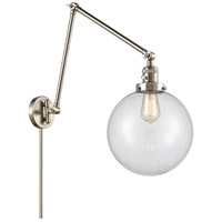 Innovations Lighting 238-SN-G202-10 Extra Large Beacon 32 inch 60.00 watt Brushed Satin Nickel Swing Arm Wall Light