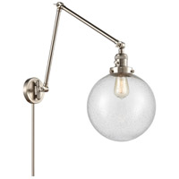 Innovations Lighting 238-SN-G204-10 Extra Large Beacon 32 inch 60.00 watt Brushed Satin Nickel Swing Arm Wall Light