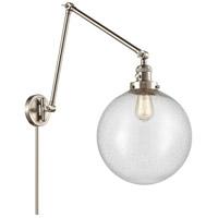 Innovations Lighting 238-SN-G204-12 XX-Large Beacon 34 inch 60.00 watt Brushed Satin Nickel Swing Arm Wall Light