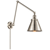 Innovations Lighting 238-SN-M13 Appalachian 30 inch 60.00 watt Satin Nickel Swing Arm Wall Light, Franklin Restoration