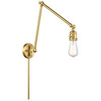 Innovations Lighting 238NH-SG Bare Bulb 30 inch 60.00 watt Satin Gold Swing Arm Wall Light Franklin Restoration