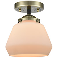 Innovations Lighting 284-1C-BAB-G171 Fulton 1 Light 7 inch Black Antique Brass Semi-Flush Mount Ceiling Light Nouveau
