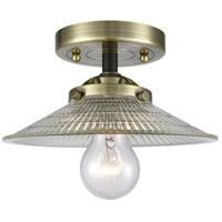 Innovations Lighting 284-1C-BAB-G2 Halophane 1 Light 9 inch Black Antique Brass Semi-Flush Mount Ceiling Light Nouveau