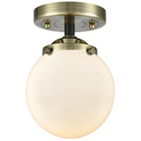 Innovations Lighting 284-1C-BAB-G201-6-LED Beacon LED 6 inch Black Antique Brass Semi-Flush Mount Ceiling Light Nouveau