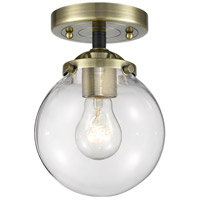 Innovations Lighting 284-1C-BAB-G202-6 Beacon 1 Light 6 inch Black Antique Brass Semi-Flush Mount Ceiling Light Nouveau