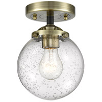 Innovations Lighting 284-1C-BAB-G204-6 Beacon 1 Light 6 inch Black Antique Brass Semi-Flush Mount Ceiling Light Nouveau