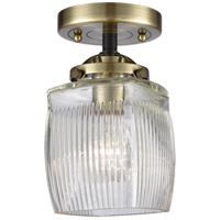 Innovations Lighting 284-1C-BAB-G302 Colton 1 Light 6 inch Black Antique Brass Semi-Flush Mount Ceiling Light, Nouveau
