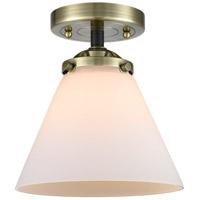 Innovations Lighting 284-1C-BAB-G41-LED Large Cone LED 8 inch Black Antique Brass Semi-Flush Mount Ceiling Light, Nouveau