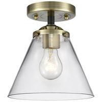 Innovations Lighting 284-1C-BAB-G42-LED Large Cone LED 8 inch Black Antique Brass Semi-Flush Mount Ceiling Light, Nouveau